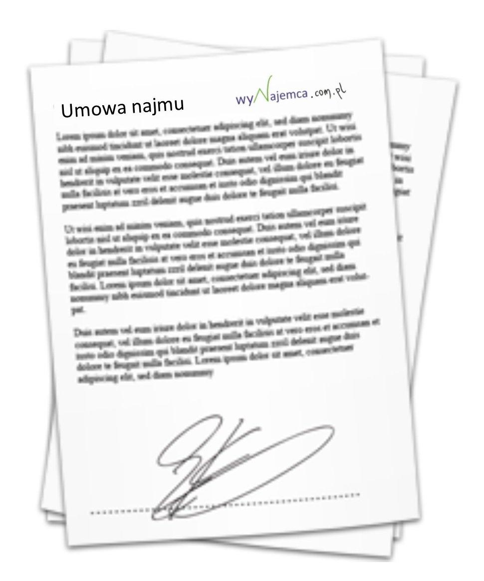 umowa najmu - ikona