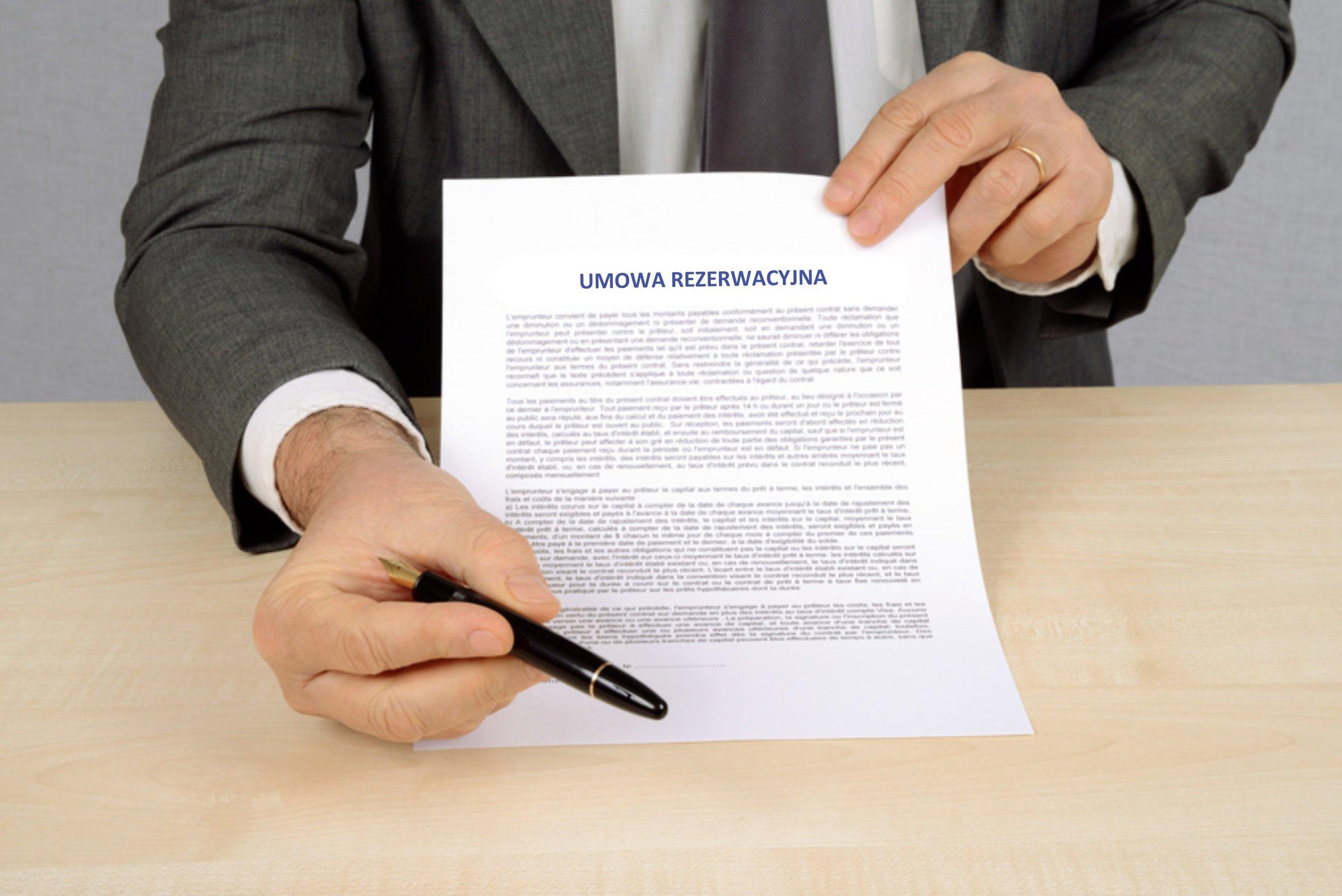 Umowa rezerwacyjna elementem sprawnego wynajmu